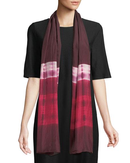 Silk Shibori Ribbons Scarf