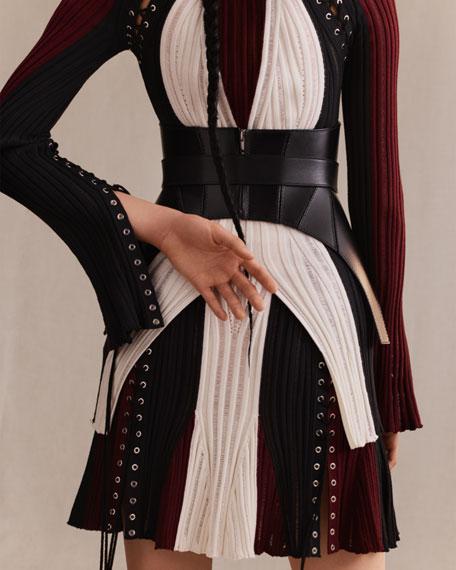 Calfskin Leather Corset Belt