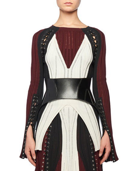 Alexander McQueen Calfskin Leather Corset Belt