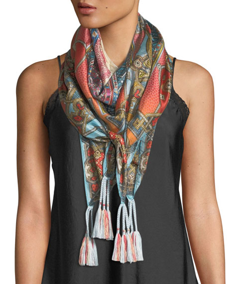Afterglow Silk Georgette Scarf