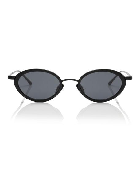 Boom Slim Oval Metal & Plastic Sunglasses