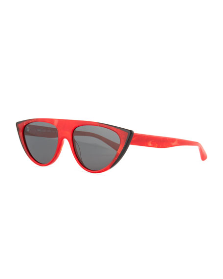 Alain Mikli Miss J Geometric Cat-Eye Acetate Sunglasses