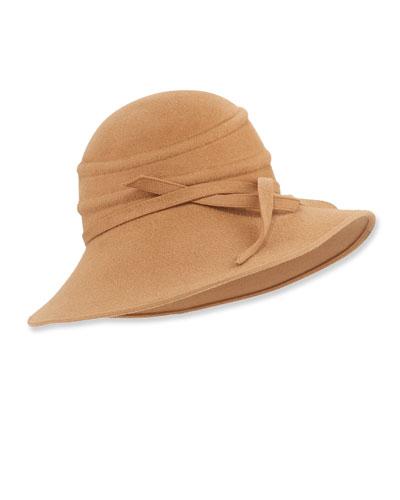 Felt Textured Cloche Hat