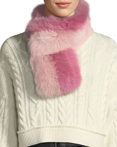 Cuddle Cuff Two-Tone Fur Scarf