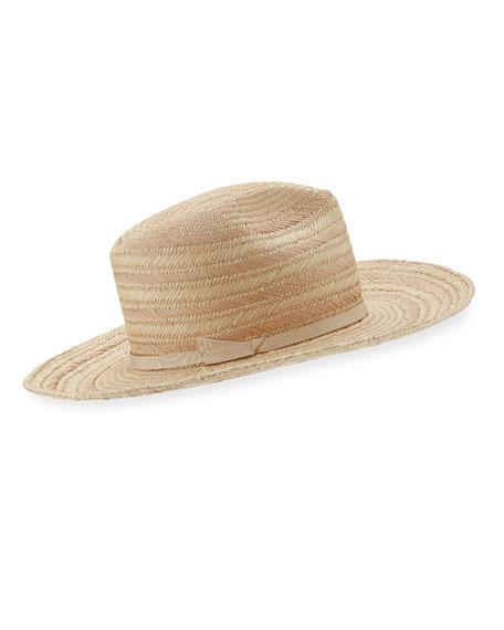 Somba Patterned Straw Fedora Hat
