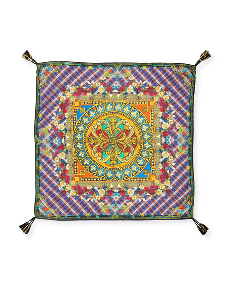 Johnny Was Reasona Printed Silk Scarf
