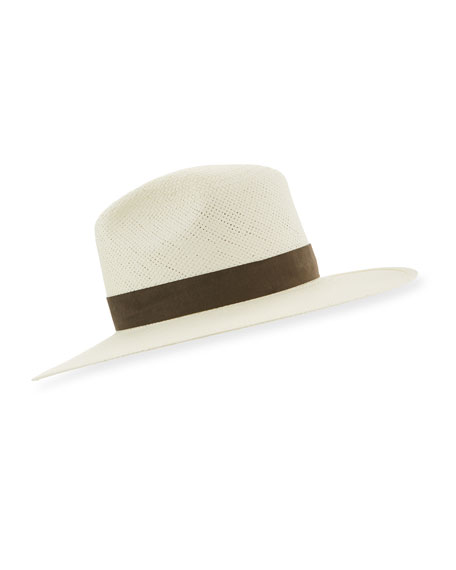 Janessa Leone MARCELL PACKABLE STRAW FEDORA HAT