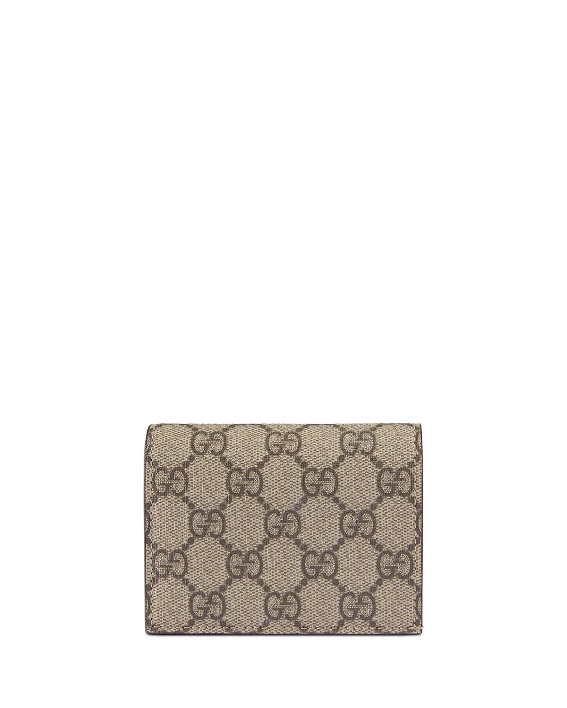 a7e131155 Gucci GG Supreme Canvas Card Case | Neiman Marcus