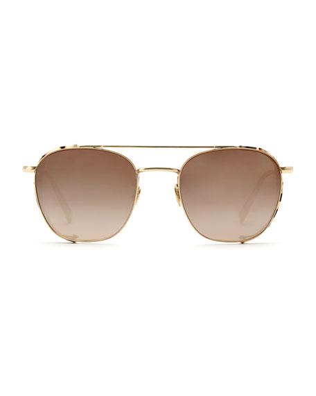 KREWE Earhart Blinker Mirrored Aviator Sunglasses w/ Side Blinders