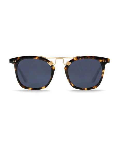 KREWE Lafayette Polarized Acetate & Metal Sunglasses