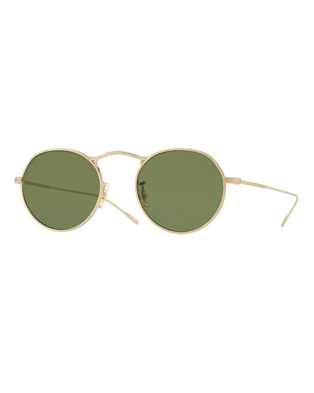 Oliver Peoples M-4 30th Anniversary Round Sunglasses