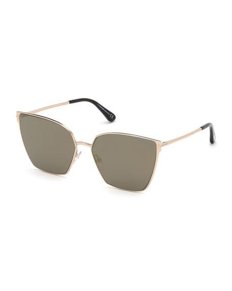 TOM FORD Helena Mirrored Square Sunglasses