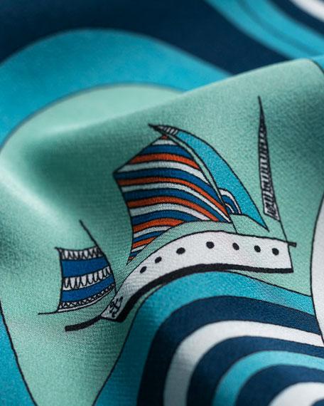 rumisu Ahoy Silk Printed Scarf