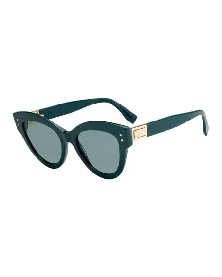 Fendi Acetate Cat-Eye Sunglasses