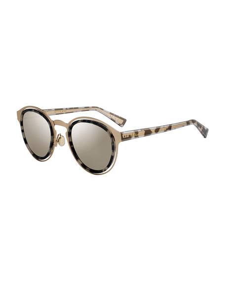 Dior DiorObscure Titanium Round Sunglasses