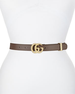 a5a5cab645e Gucci GG Marmont Leather Belt w  Textured GG Buckle