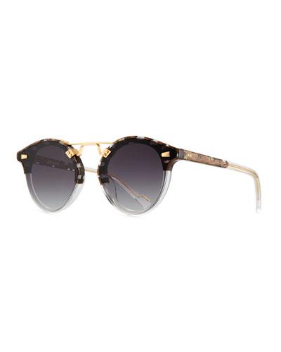 STL II Round Sunglasses w/ Nylon Overlay Lenses