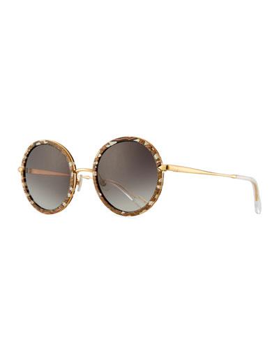 Louisa Round Gradient Sunglasses