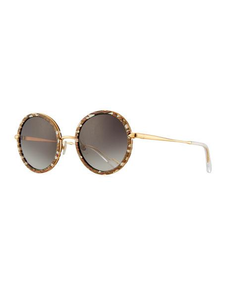 KREWE Louisa Round Gradient Sunglasses
