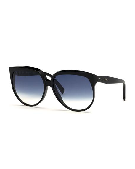 Celine Round Gradient Acetate Sunglasses