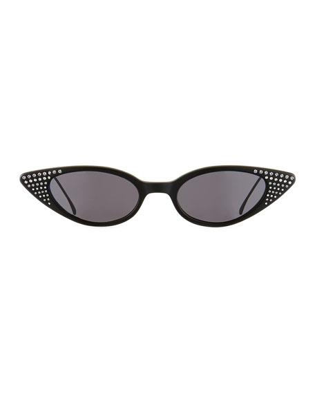 Illesteva Marianne Crystal Studded Cat-Eye Sunglasses