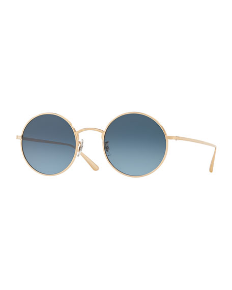 Oliver Peoples The Row After Midnight Round Metal
