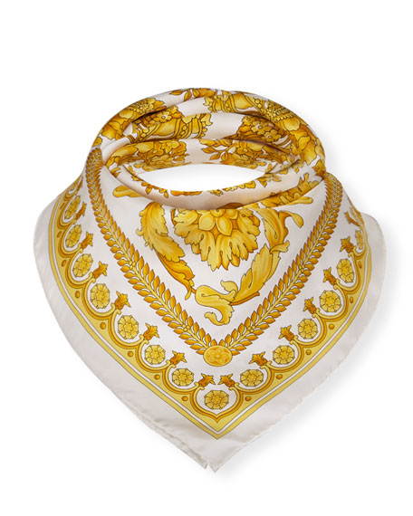 Versace Collection Baroque Heritage Silk Scarf