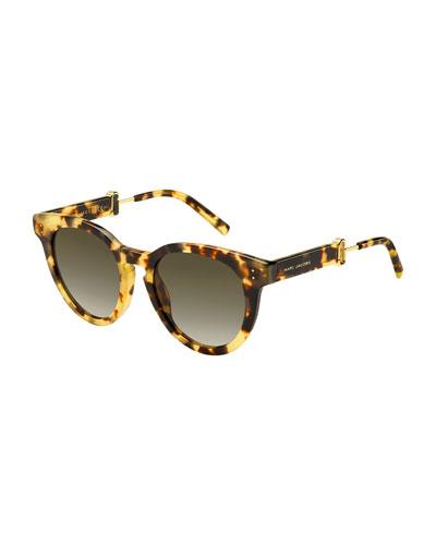 Rounded Square Gradient Acetate Sunglasses