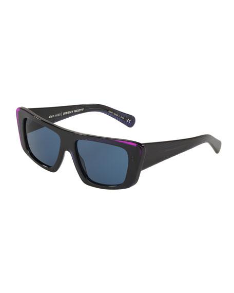 Alain Mikli Rectangle Acetate Sunglasses