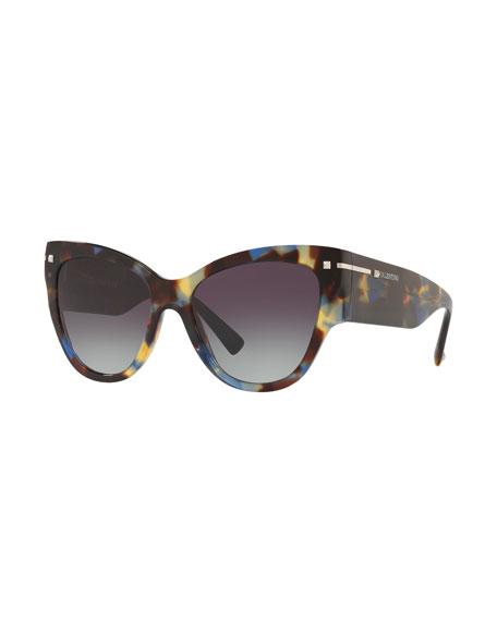 Chunky Cat-Eye Acetate Sunglasses