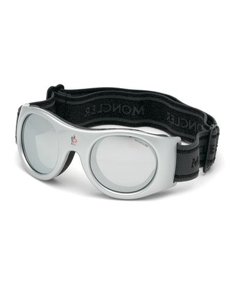 Moncler Shield Sunglasses w/ Head Strap