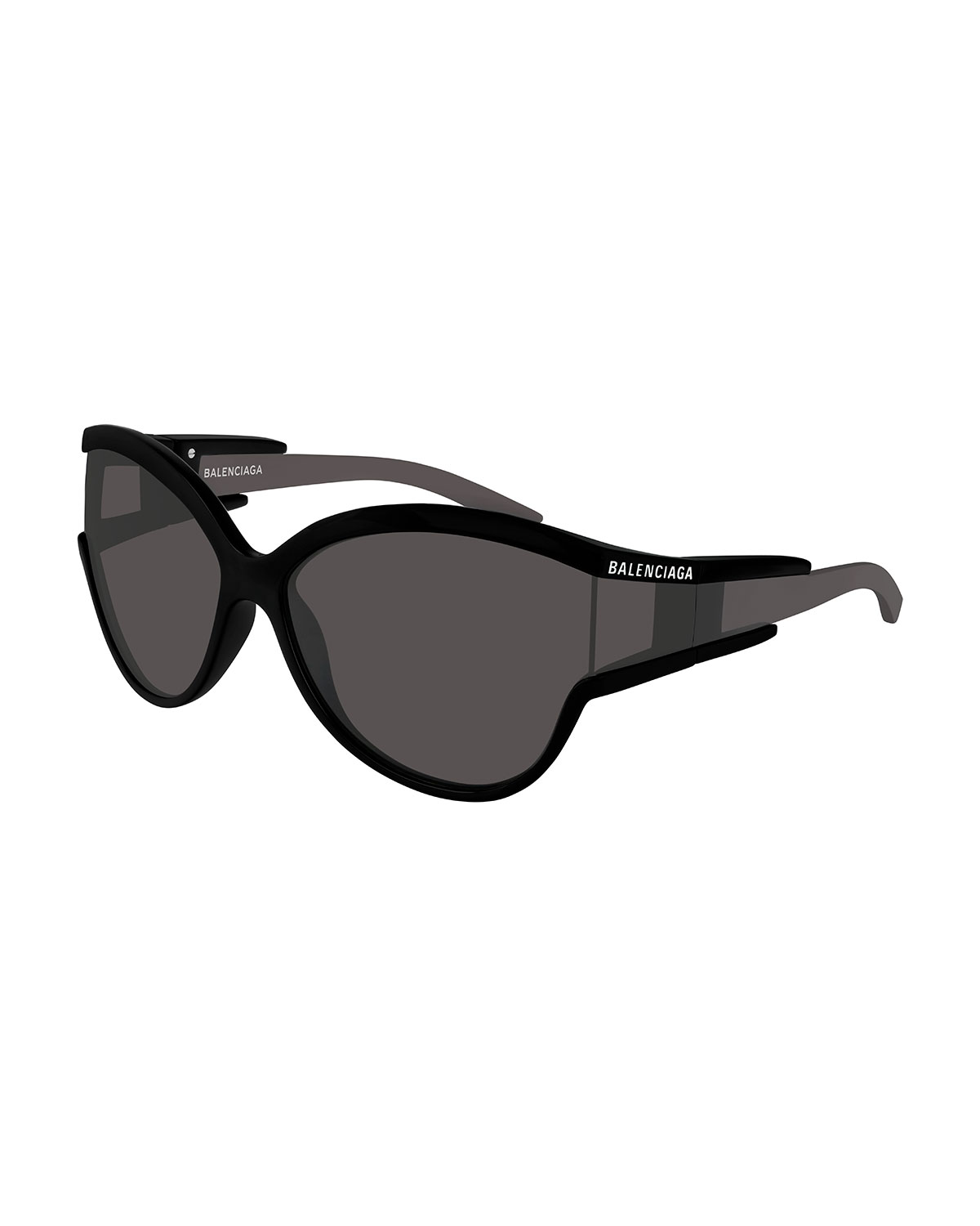 Balenciaga Soft Mask Monochromatic Wrap Cat-Eye Sunglasses
