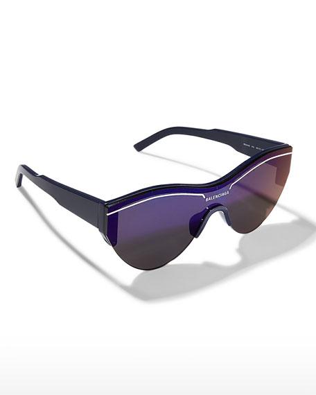 Balenciaga Semi-Rimless Acetate Cat-Eye Sunglasses