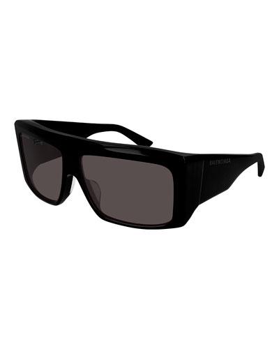 Chunky Acetate Rectangle Sunglasses
