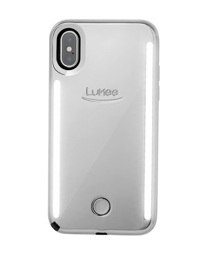 iPhone XS Max Duo Photo-Lighting Case, Silver Mirror