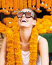 Gucci Chunky Square Snakeskin Printed Acetate Sunglasses