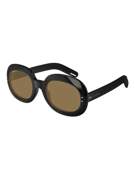 Gucci Round Monochromatic Sunglasses