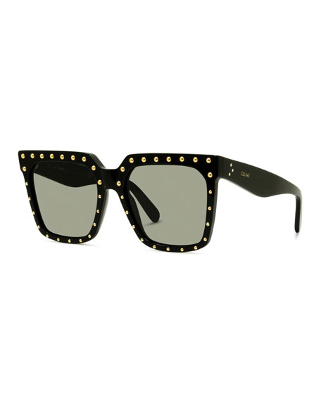 Celine Studded Square Acetate Sunglasses