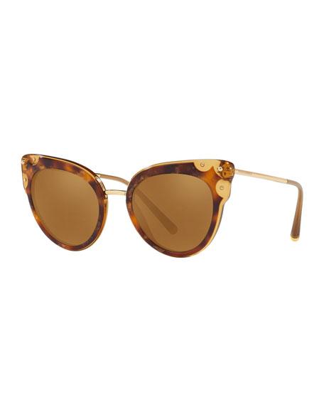 Dolce & Gabbana Mirrored Cat-Eye Sunglasses
