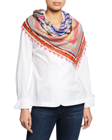 Faliero Sarti April Patchwork Print Scarf