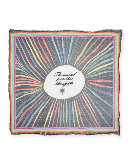 Faliero Sarti Thousand Positive Thoughts Rainbow Scarf