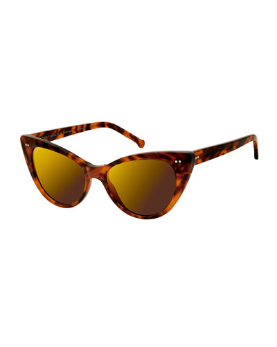 Audrey Marbled Cat-Eye Sunglasses  Blond