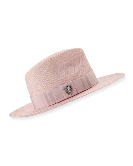 Philip Treacy Straw Trilby Hat