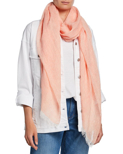 Cross Dye Organic Linen Wrap