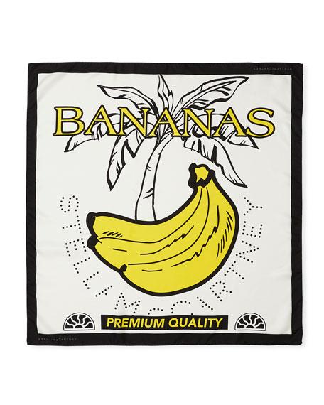 Stella McCartney Banana Bandana Silk Scarf