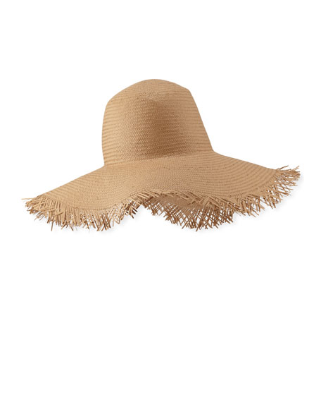 Loro Piana Brigitte Frayed Edge Sun Hat