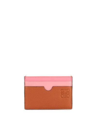 Rainbow Plain Leather Card Case