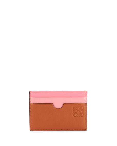 Loewe Rainbow Plain Leather Card Case