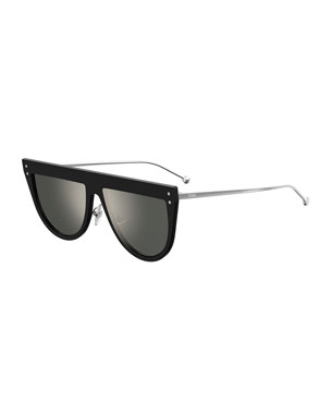 f7a1551021f Fendi Flat-Top Mirrored Shield Sunglasses. Favorite. Quick Look