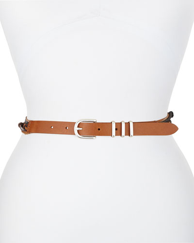 Jet Knotted Leather Belt